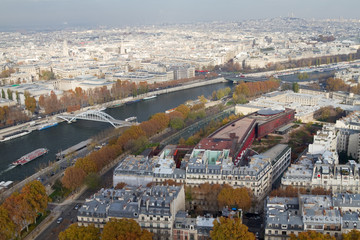 River Seine From Above, Paris