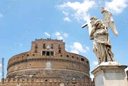Veduta di Castel Sant'Angelo a Roma.