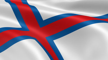 Faroese flag in the wind. Part of a series.