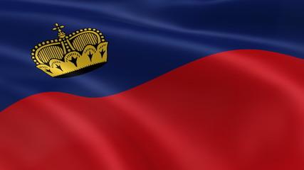 Liechtensteiner flag in the wind. Part of a series.