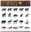 20 Animal Silhouettes Jungle