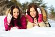 Girls on snow