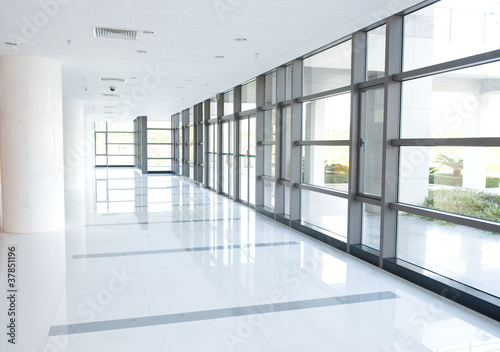 corridor of the office building - 37851196