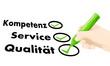 Kompetenz,Service,Qualität
