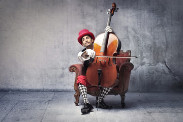 Old-fashioned musician