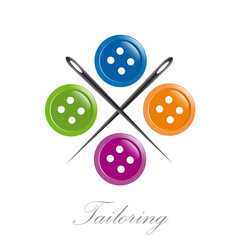 Logo tailoring on white background # Vector