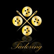 Logo golden tailoring # Vector