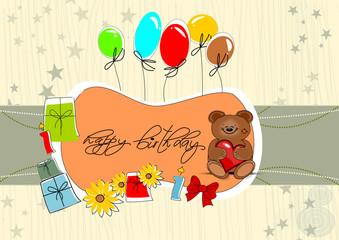 Geburtstag Karte mit Bär