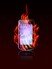 burning cellphone