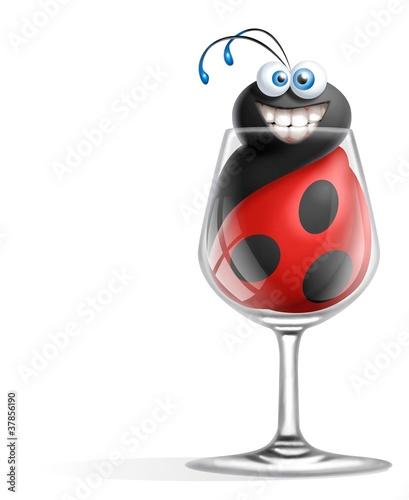 coccinella nel bicchiere