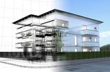 appartamento rendering 3d exterior architettura progetto - 37856594