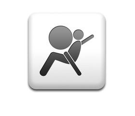 Boton cuadrado blanco simbolo airbag