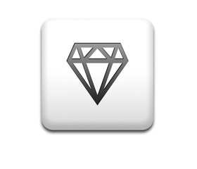 Boton cuadrado blanco diamante