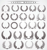 Fototapety laurel wreaths