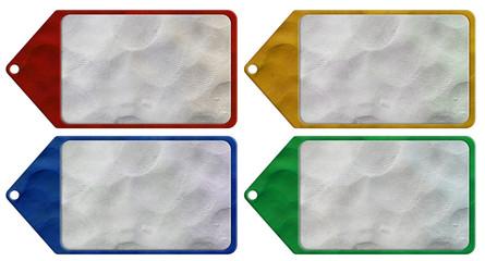 Header origami tag plasticine