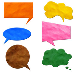 Speech Bubbles plasticine