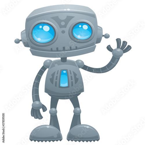 Keuken foto achterwand Robots Waving Robot