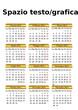 Calendario oro 2013 italiano (vettoriale)