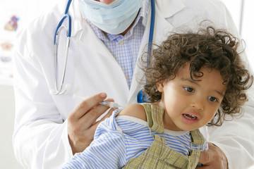 Vaccination d'un enfant - Épidémie