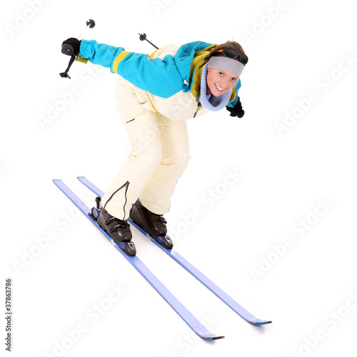 I love skiing!
