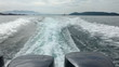 Speedbot wake of. Andaman sea.