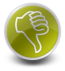 "Yellow Glossy Icon ""Thumbs Down"""