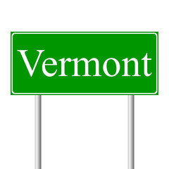 Vermont green road sign