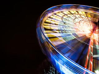 Ferris wheel on a New Year market