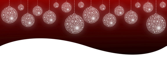 snowflake ball graphic background
