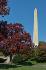 Washington DC, Washington Monument in Autumn