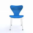 3D Designer Stuhl silber blau