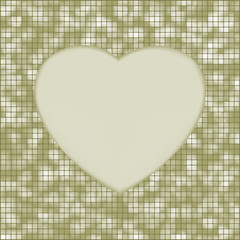 Elegant mosaic glowing heart background. EPS 8