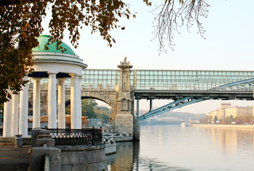 embankment of the Moskva River in autumn