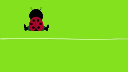 "Ladybug, Chimney Sweeper & Pig ""Happy New Year"" Green"