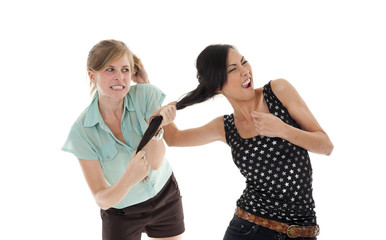 two women fighting