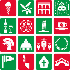 Italy pictograms