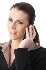 Businesswoman speaking on phone