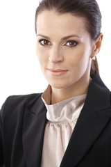 Closeup businesswoman portrait