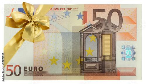 billet cadeau 50 euros photo libre de droits sur la banque d 39 images image 37871555. Black Bedroom Furniture Sets. Home Design Ideas