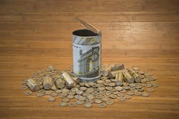 Piggy bank. Euro
