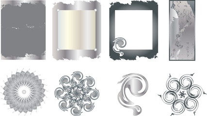 металлическая текстура и элементы