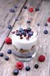 Healthy Chia breakfast with berries
