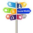Social Media Sign - 37877338