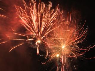 New Year night salute
