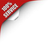 Seitenecke rot links 100% SERVICE