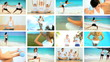 Montage of  Healthy Lifestyle Exercise