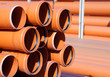 Orange PVC pipes