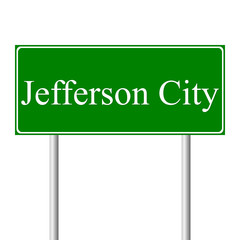 Jefferson City green road sign