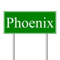 Phoenix green road sign