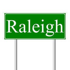 Raleigh green road sign